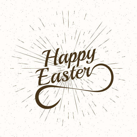 playful: Playful Vector Hand Lettering Series Happy Easter. Stock vector