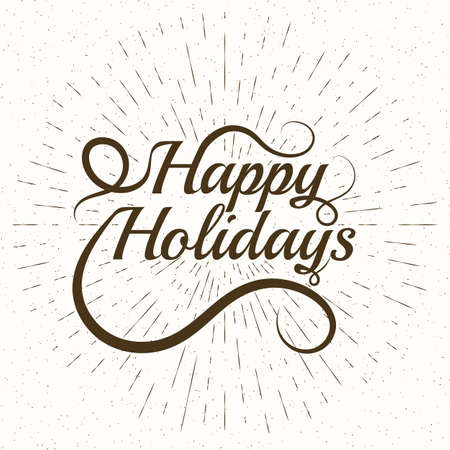 salutations: Happy Holidays Vector Lettering. The stock vector