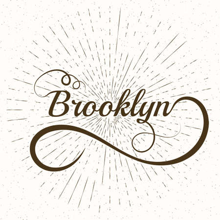 brooklyn: Names Elegant Vector Lettering Brooklyn. Stock vector Illustration