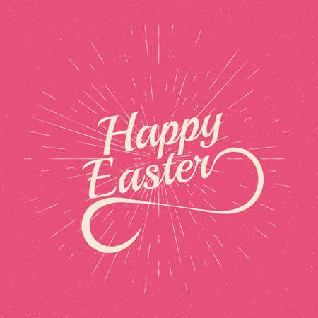 playful: Playful Vector Hand Lettering Series Happy Easter. Illustration