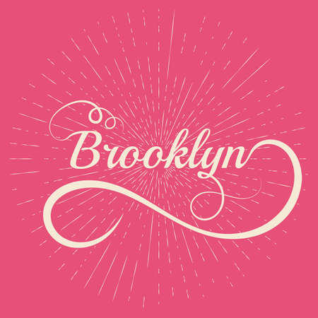 upmarket: Names Elegant Vector Lettering Brooklyn. Illustration