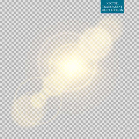 Abstract image of lighting flare set. Stock Illustratie
