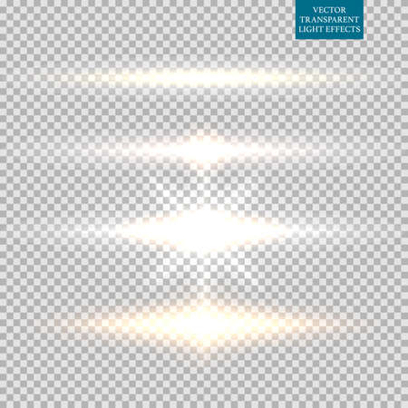 Abstract image of lighting flare set.