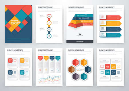 step up: Modern infographic vector concept. Business graphics brochures. Used for workflow layout, diagram, number options, step up options, web template, infographics, websites, brochures, flyers and prints Illustration