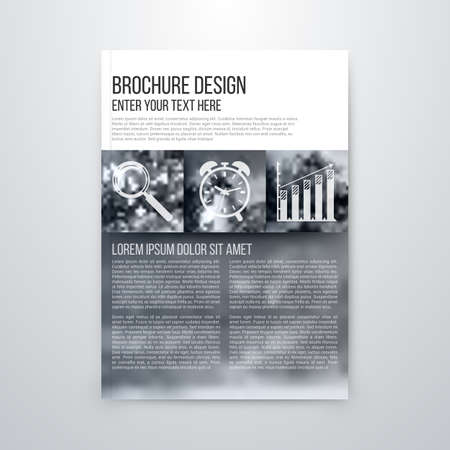book publisher: brochure design template vector flyer action abstract Illustration