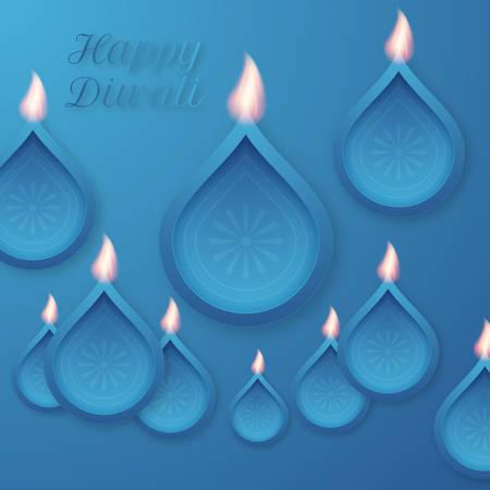 ethnicity happy: Vector illustration of a happy Diwali day. Stock vector