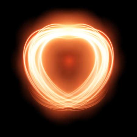 translucent red: Special light fire effect. Vector illustration transparent
