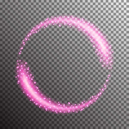 Vector shining twisted glitter comet trails. Special light flare effect