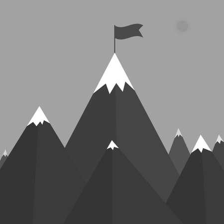 red mountain: Vector illustration of a mountain Illustration