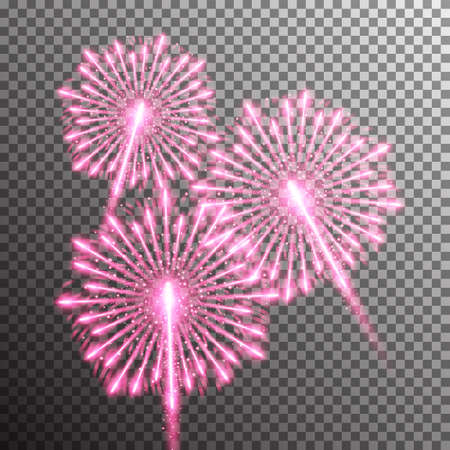 salute: isolated realistic vector fireworks