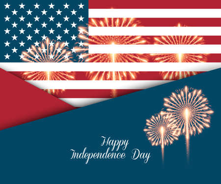 nationalism: Fourth of July. Independence day greeting card, poster, flyer. Patriotic banner for website template