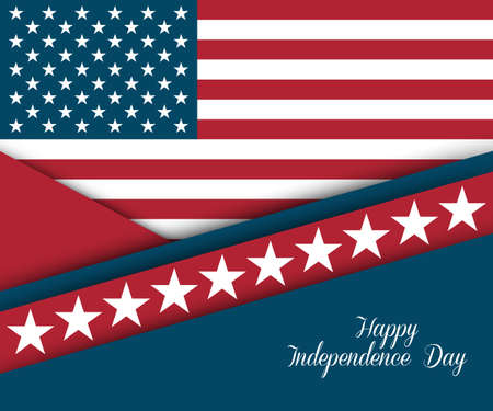flag: Fourth of July. Independence day greeting card