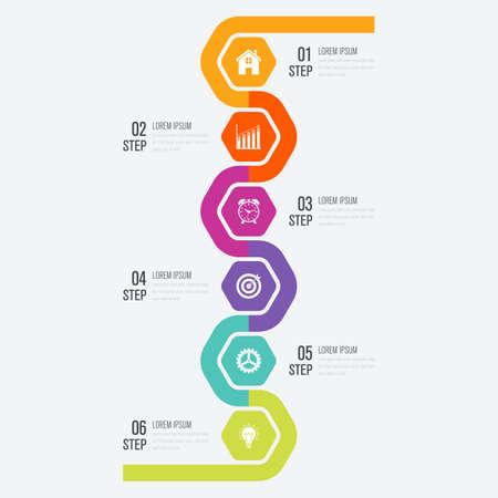 Vector illustration infographics six options