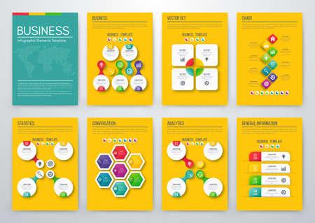 Color elements for infographics Illustration