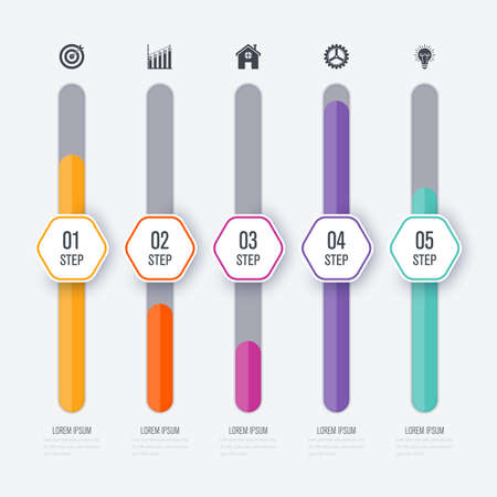 Vector illustration infographic five options Ilustracja