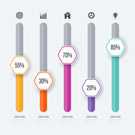 Vector illustration infographic five options Illustration