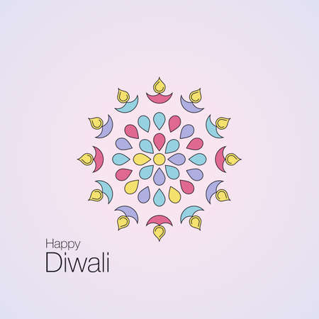 Happy Diwali text design Illustration