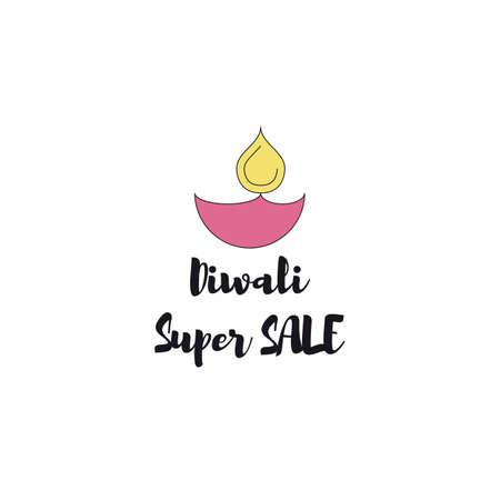 Creative poster Sale Happy Diwali Illustration