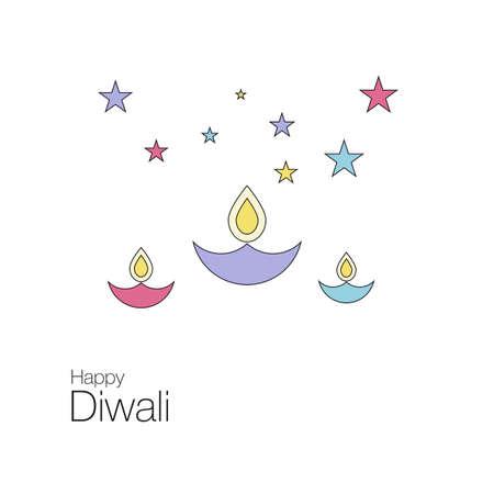 Happy Diwali banner. Ilustração