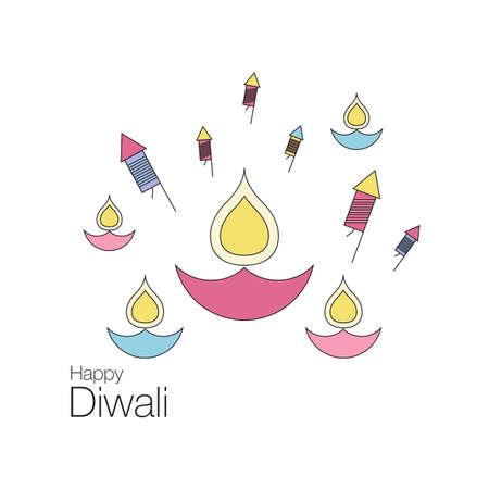 Happy Diwali text design Illustration