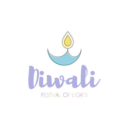 festive occasions: Happy Diwali text design Illustration