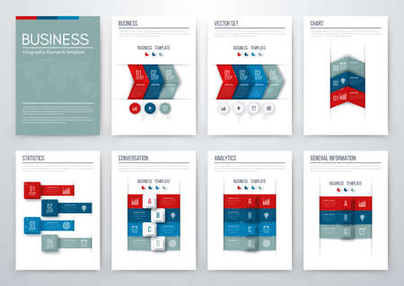 Set with infographics. Data and information visualisation.
