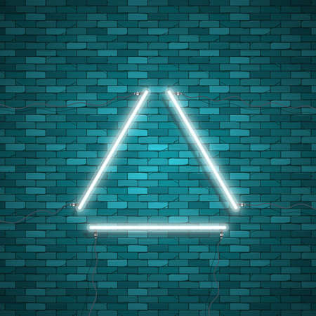 bright: Triangle Border with Light Effects Illustration