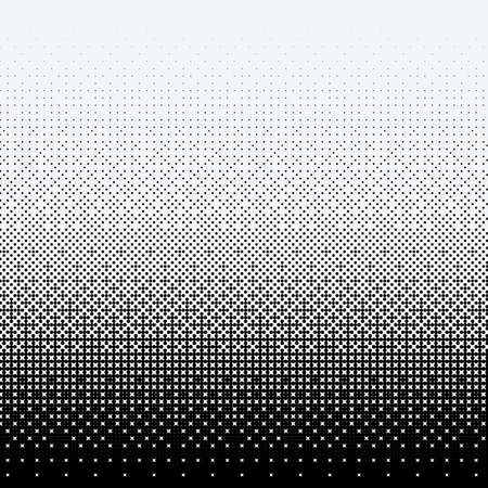 Halftone dots on white background Illustration
