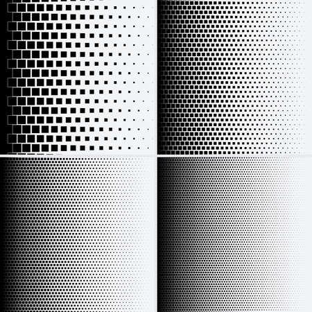 Halftone dots on white background. Vector illustration. Graphic resources halftone black white  イラスト・ベクター素材
