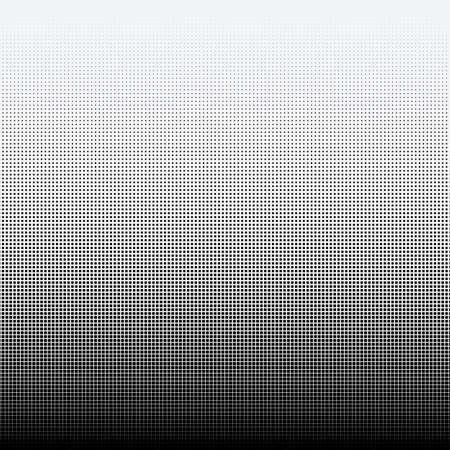 Halftone dots on white background illustration.