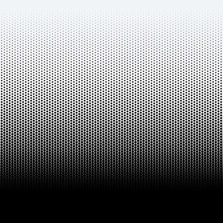 Halftone dots on white background illustration.