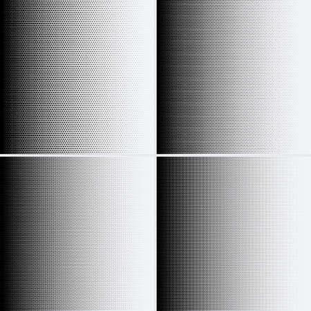 Halftone dots on white background. Vector illustration. Graphic resources halftone black white Vetores