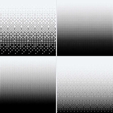 Halftone dots on white background  イラスト・ベクター素材