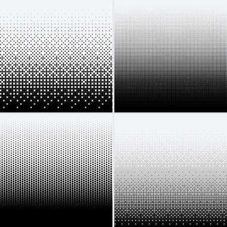 Halftone dots on white background Stock Illustratie