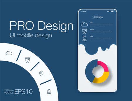 Weather Mobile UI kit. Material Design UI, UX, GUI. Responsive web design