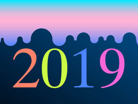 New 2019 year paper, vector illustration. Perfect for presentations, flyers and banners, leaflets, postcards and posters. EPS10