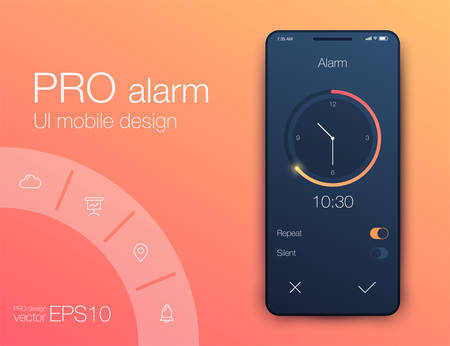 Clock Application UI Design Concept