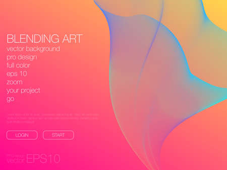 Abstract blend background. Stock vector. Template for web Фото со стока - 122432176