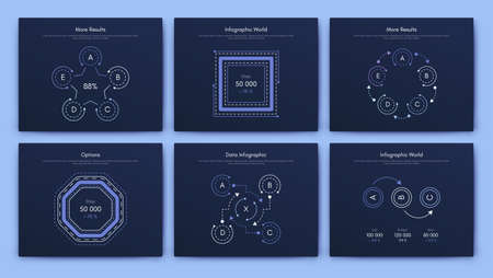 Infographic vector brochure elements for business illustration in modern style. Set infographics for web Illusztráció