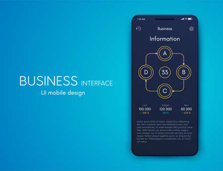 Vector graphics infographics with four options. Template for creating mobile applications, workflow layout, diagram, banner, web design, business reports with 4 steps