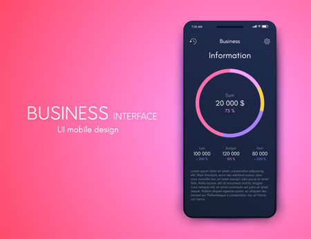 Vector graphics mobile infographics with three options. Template for creating mobile applications, workflow layout, diagram, banner, web design, business reports with 3 steps. Stock vector