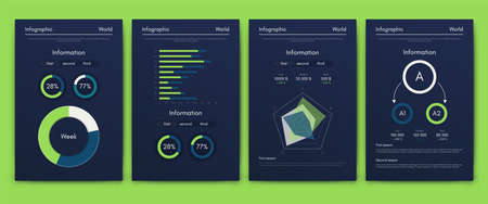 Modern infographic vector concept. Business graphics brochures. Used for workflow layout, diagram, number options, step up options, web template, infographics, websites, brochures, flyers and prints.