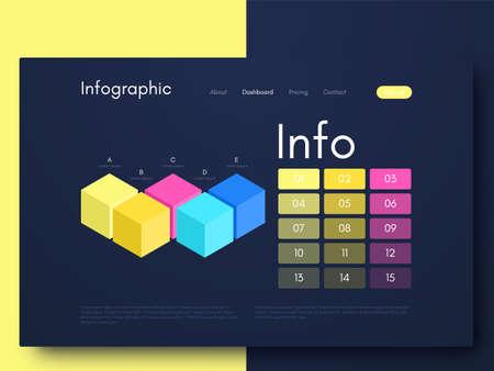 Infographie graphique vectorielle. Modèle de création d'applications mobiles, mise en page de flux de travail, diagramme, bannière, conception de sites Web, infographie d'entreprise. Vecteur d'actions