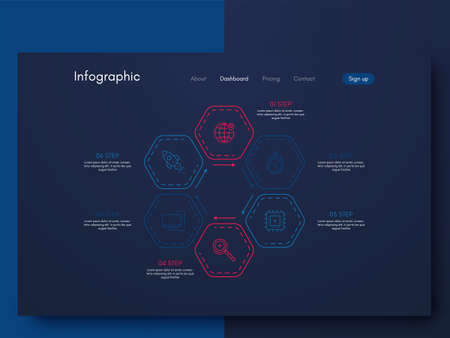 Vector graphic infographics. Template for creating mobile applications, workflow layout, diagram, banner, web design, business infographic. Stock vector