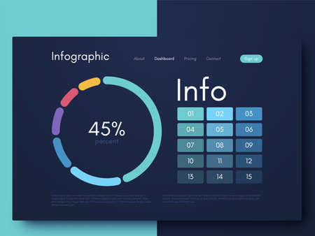 Vector graphic infographics. Template for creating mobile applications, workflow layout, diagram, banner, web design, business infographic reports. Vector illustration