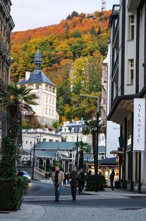 beautiful architecture of Karlovy Vary, houses, buildings, stylish, attractive