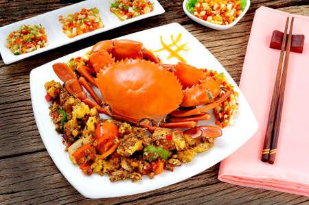Stir fried crabmeat with black pepper photo