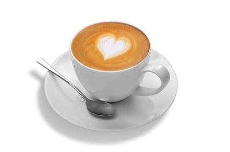 latte art on white background photo