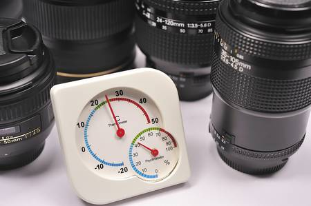 Protection of lens and camera from humidity photo