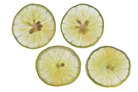 lemon slices: Lime slices,Isolated on white background